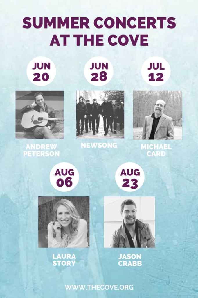 summer concerts at the cove
