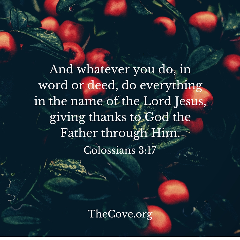 study of colossians 3 This study comes from reading plan week 144, colossians 3-4  keep seeking the things above, .