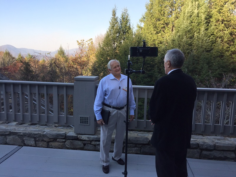 Billy Graham 98 birthday pastor being interviewed by Frank with WLOS