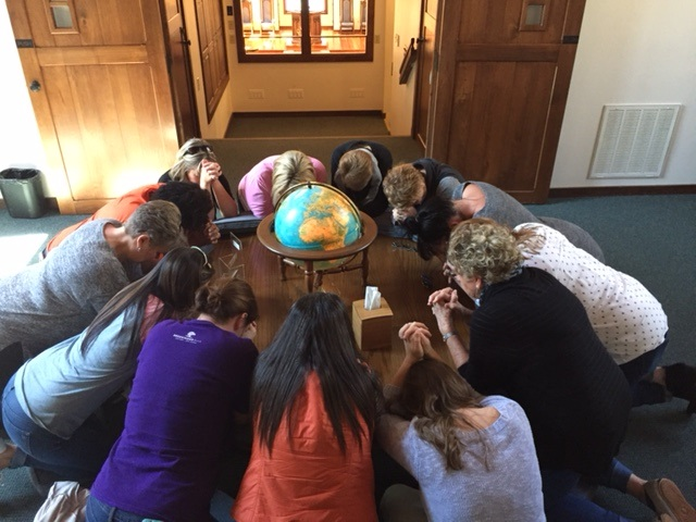praying in chapel before event for blog