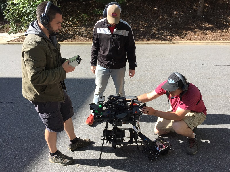 Drone being put together