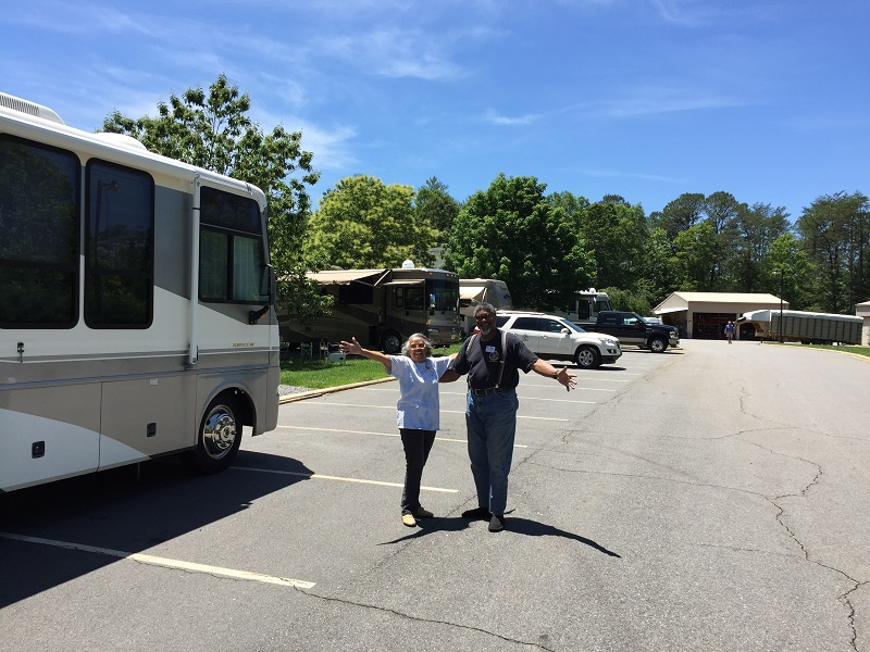 Ashley and Gloria and their neighborhood May 2017 RV