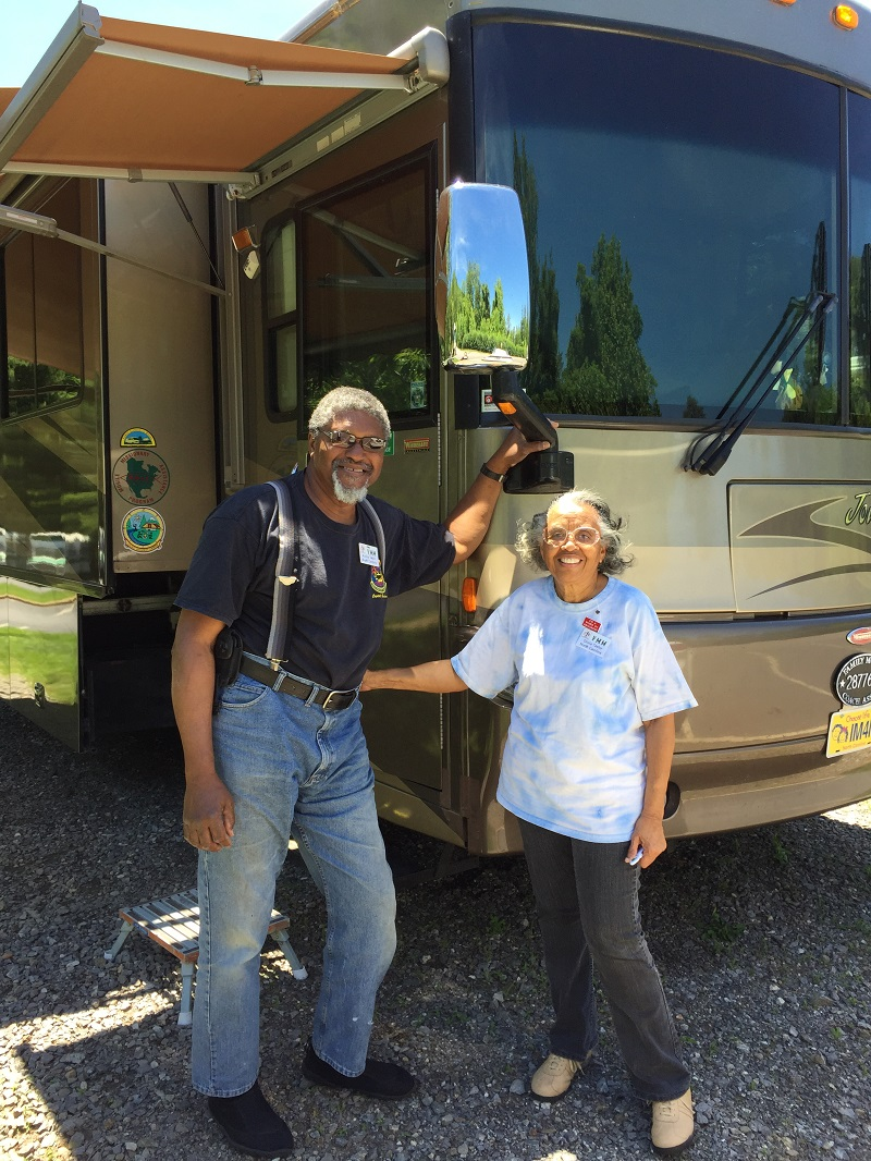 Ashley and Gloria and their neighborhood May 2017 with their RV