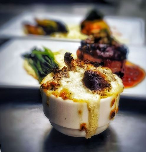 blue cheese bread pudding from Doug for april 1 post