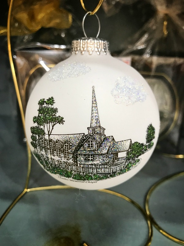 White Chapel Ball Ornament