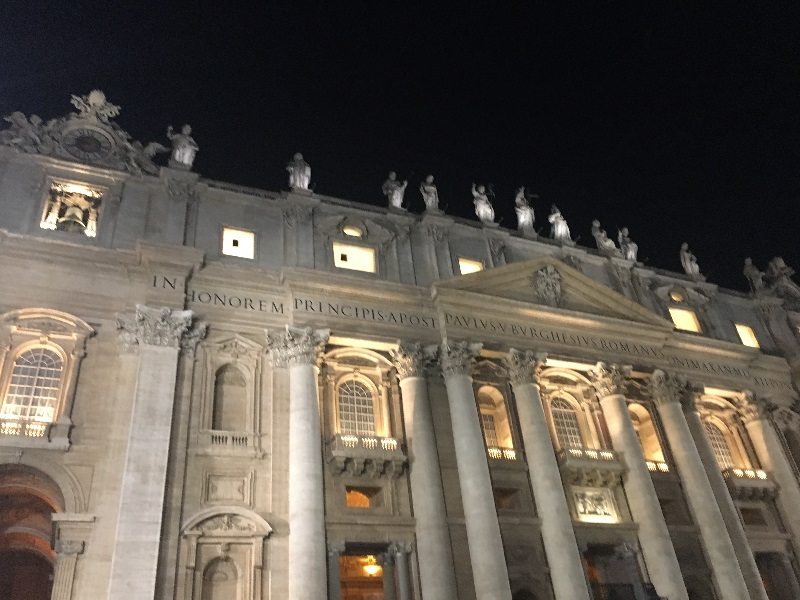Vatican with 12 disciples on top