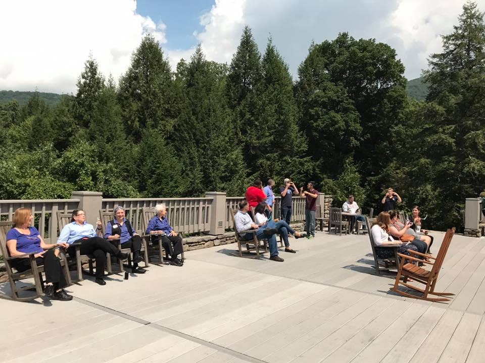 eclipse viewing on the TC deck