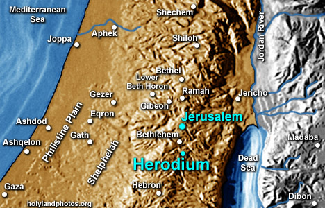Herodium on map