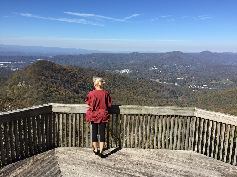 Woman at the overlook November 2017