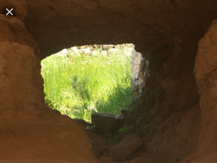 mouth of cave where shepherds would stay
